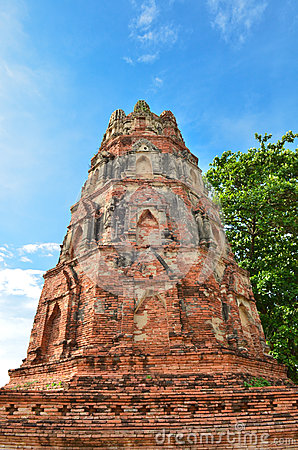 Ancient pagoda with blue sky