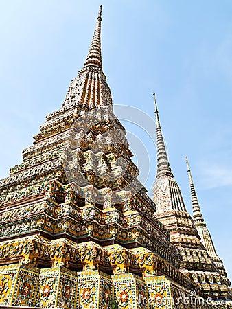 Ancient pagoda in Wat Pho, Bangkok, Thailand