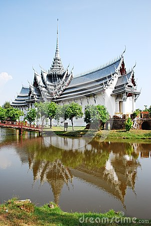 Ancient palace model in thailand