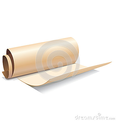Ancient paper roll icon