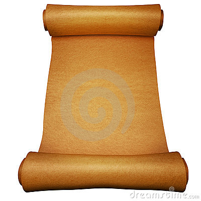 Ancient paper scroll