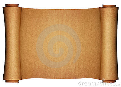 ancient paper scroll horizontal view stock photography