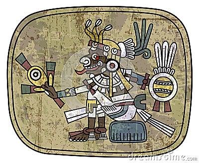Ancient petroglyph depicting a man