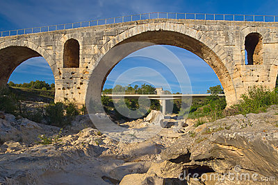 Ancient Pont Julien in Provence (France)