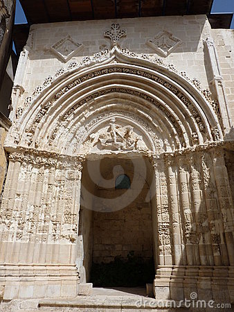 Ancient portal of St. George, Ragusa Ibla.