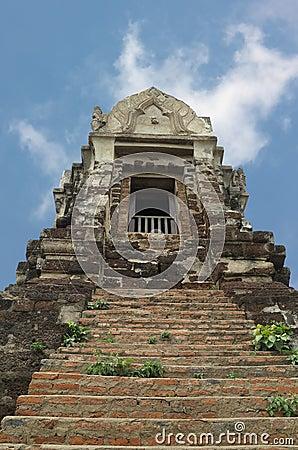 Ancient prang in Ayutthaya