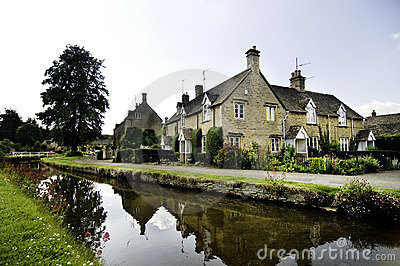 Ancient quaint English country village town