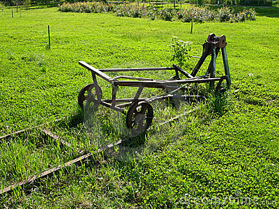 Ancient Rail Road Machine