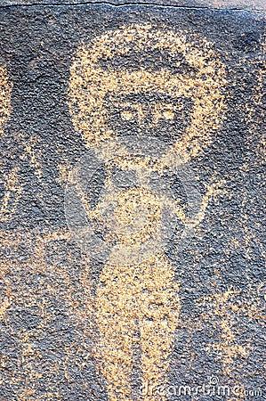 Ancient rock art in Niger depicting a figure