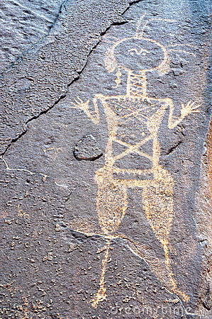 Ancient rock art in Niger depicting one figure