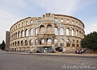 Ancient Roman Amphitheater Editorial Photo