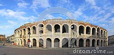 Ancient roman amphitheatre Arena in Verona
