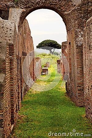 Ancient roman arch ostia antica rome italy royalty free for Mr arredamenti ostia antica