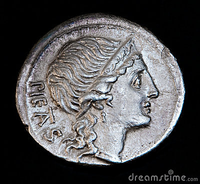 Ancient Roman Coin Pietas