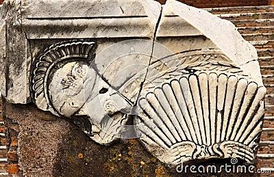 Ancient Roman Decorations Helmet Ostia Antica Rome