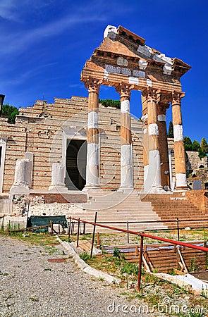 Roman Temple, Brescia, Italy.