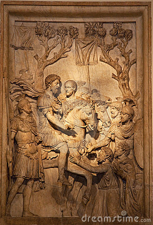 Free Ancient Roman Marcus Aurelius Sculpture Rome Italy Stock Images - 10911354