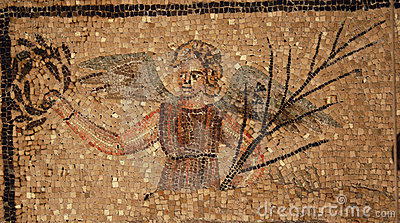 Ancient roman mosaic of an angel