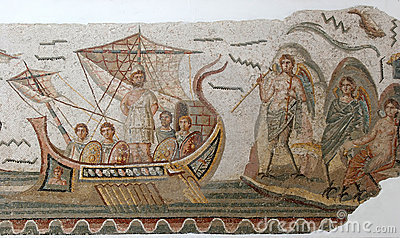 Ancient Roman mosaic tiles