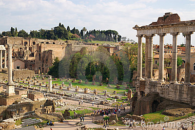 Ancient roman ruines