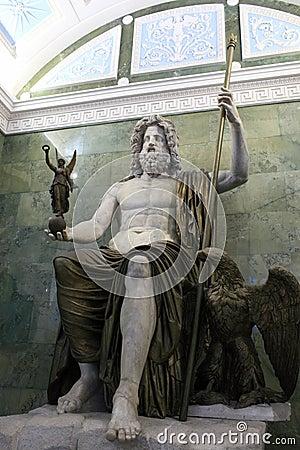 Ancient Roman Sculpture Of Jupiter Royalty Free Stock