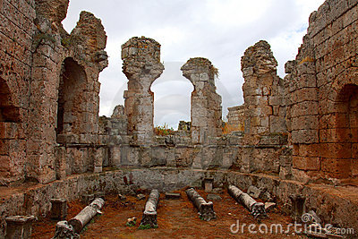 Ancient Roman site in Perge, Turkey