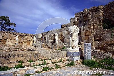 Ancient Roman site in Salamis