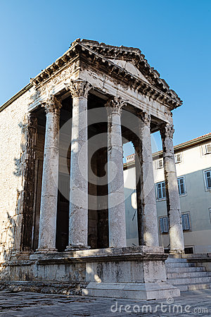 Ancient Roman Temple of Augustus in Pula
