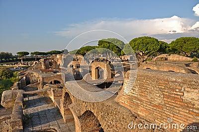 Ancient romanian city ostia antica stock photo image for Mr arredamenti ostia antica