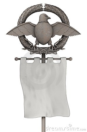 Ancient Rome eagle standard