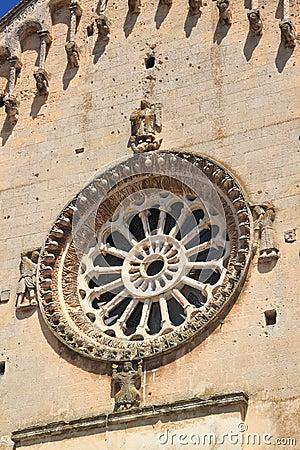 Ancient rose window
