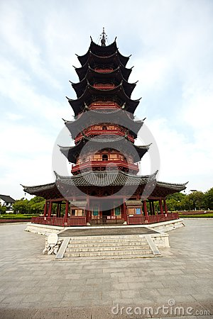 Ancient Ruigang Pagoda Suzhou China