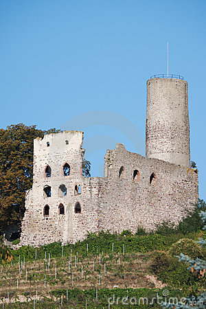 Ancient ruin of castle on hill