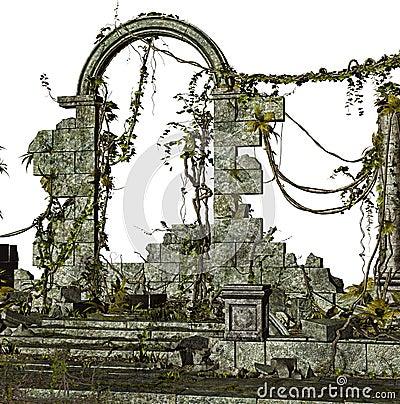 Ancient ruin illustration