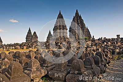 Ancient ruin of prambanan