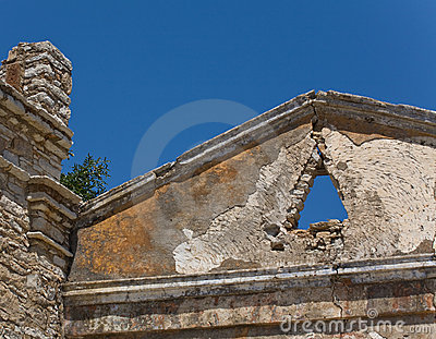 Ancient ruined roof