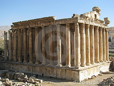 Ancient ruins in Baalbeck, Lebanon