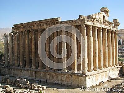 Ancient ruins in Baalbeck, Lebanon