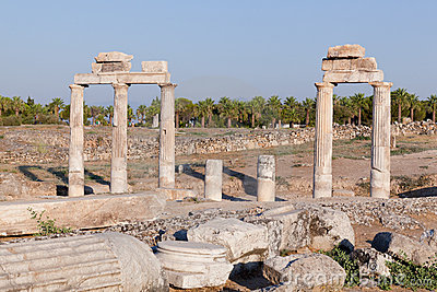 Ancient ruins Hierapolis. Turkey
