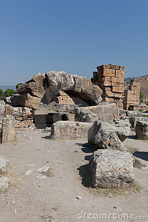 Ancient ruins Hierapolis. Turkey