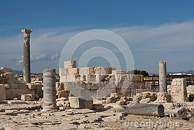 Ancient ruins in Kourion Place