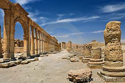 The ancient ruins of Palmyra