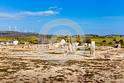 Ancient ruins in Paphos, Cyprus