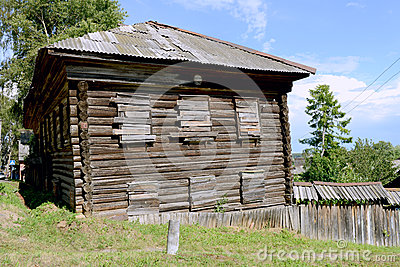 Ancient russian wood house