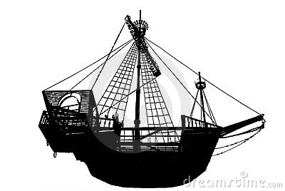 Ancient sailing ship
