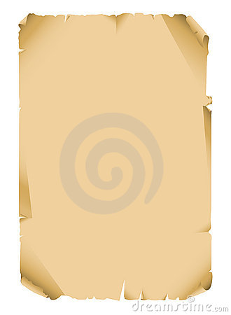 Ancient scroll paper blank