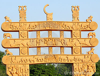 Ancient sculptured gate
