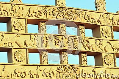 Ancient sculptured gate