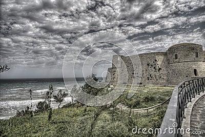 Ancient seacoast castle