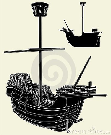 The Ancient Ship Vector 03